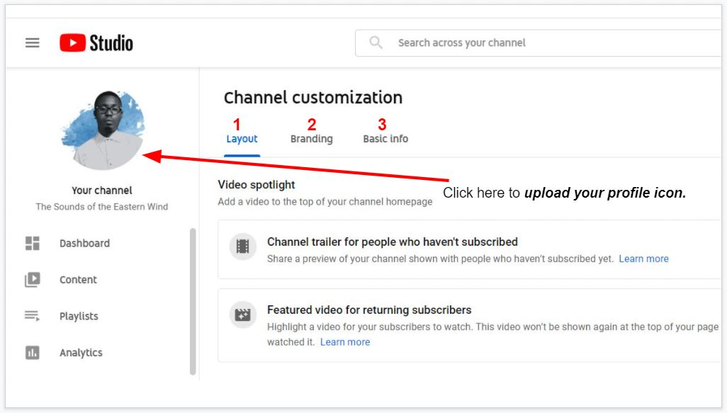 How to upload your YouTube channel icon