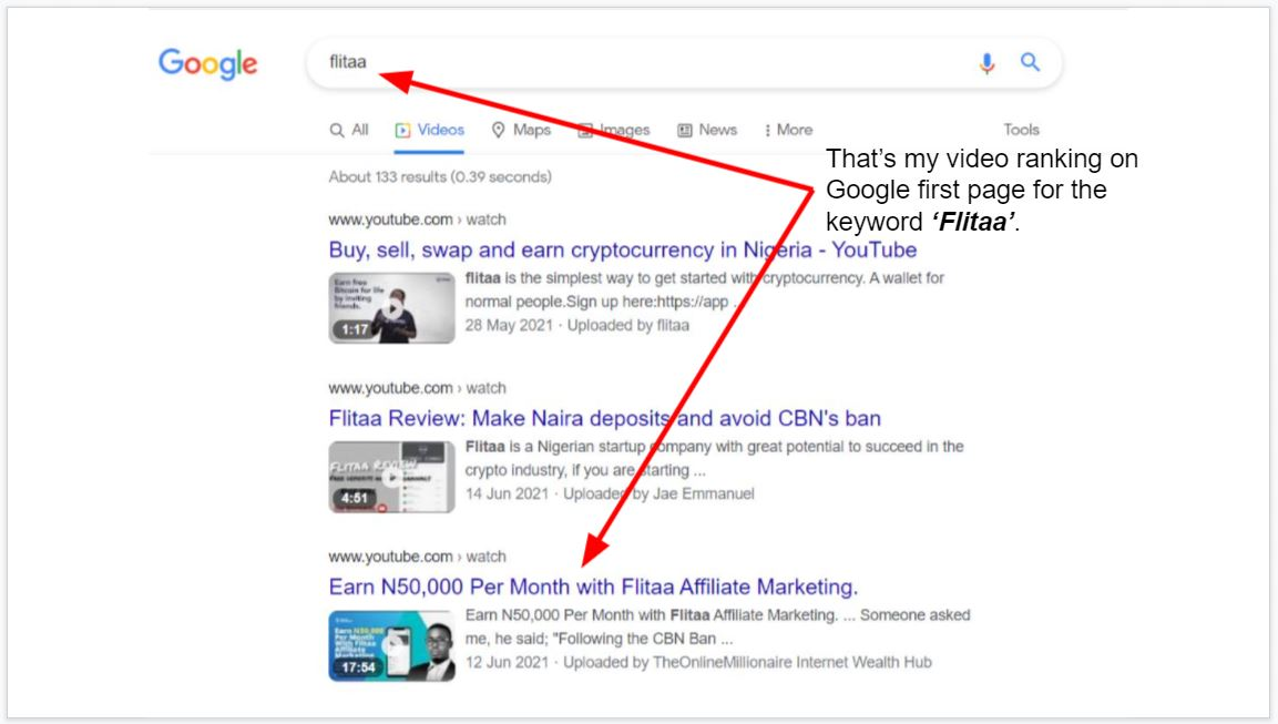How to rank your video on google first page
