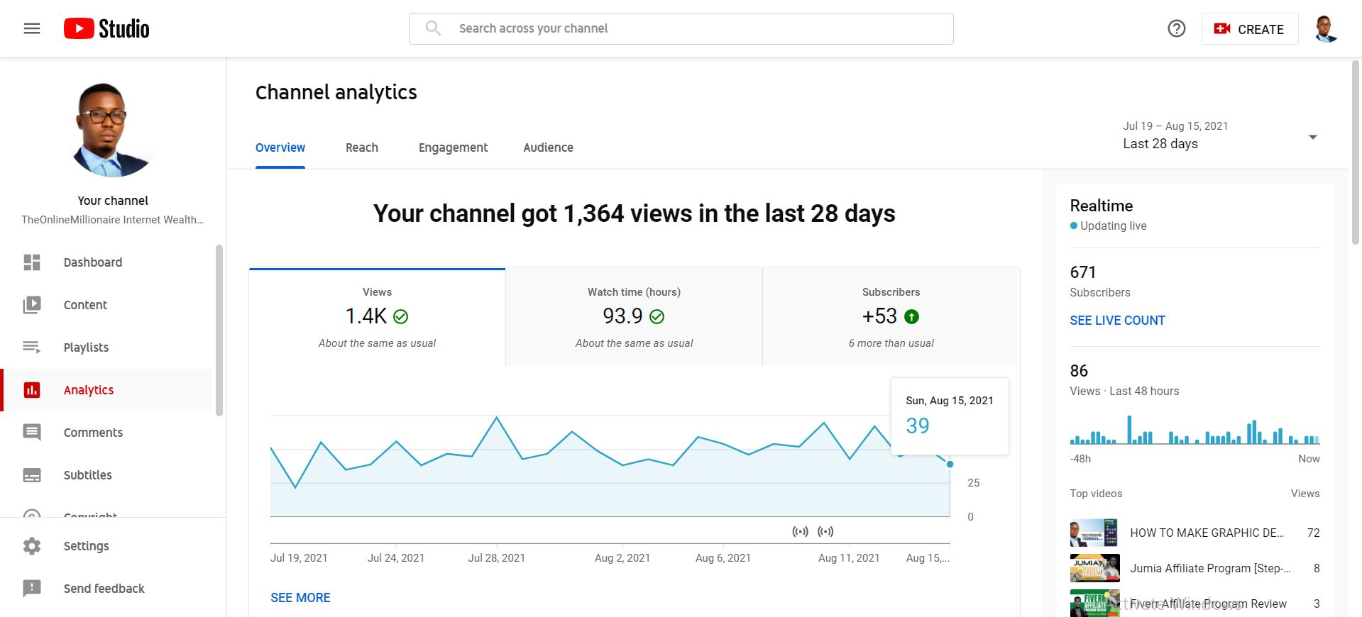 How to check your YouTube Google Analytics