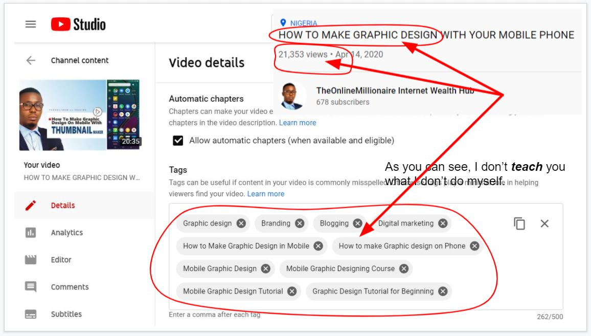How to add tags to your YouTube video