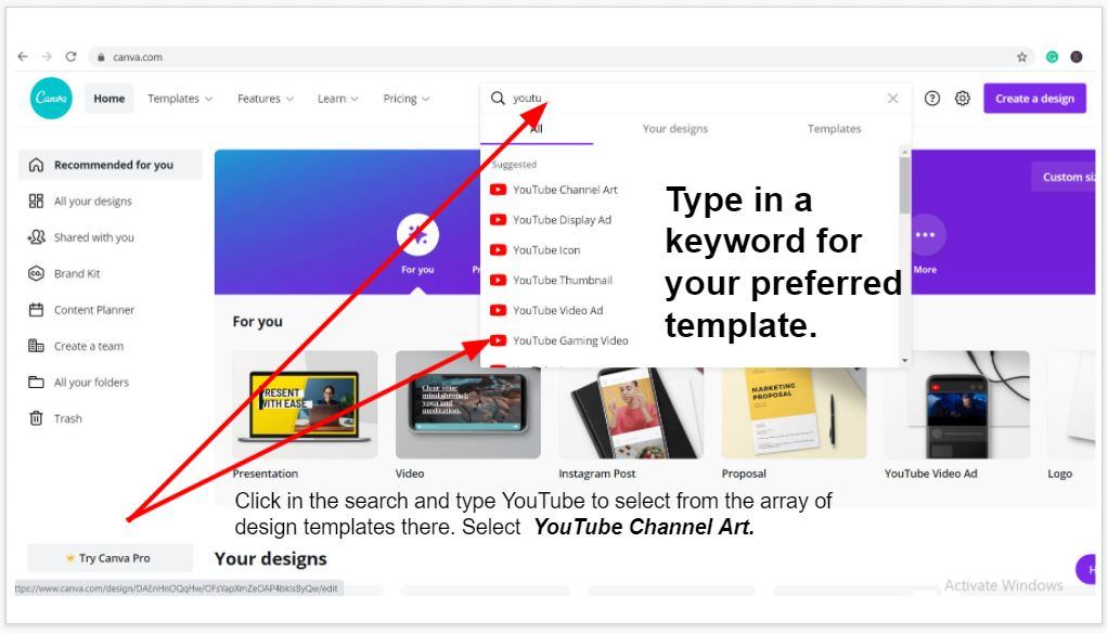 How to choose a template for your YouTube thumbnail