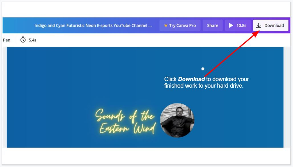 How to download your YouTube channel art on canva