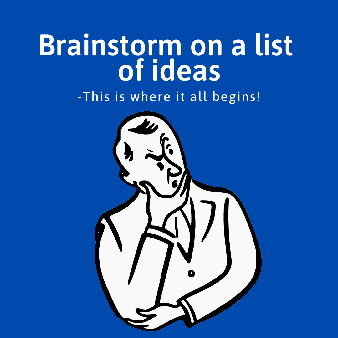 7 Industry Proven Steps to Make Money Online- 1. Brainstorm on a list of ideas
