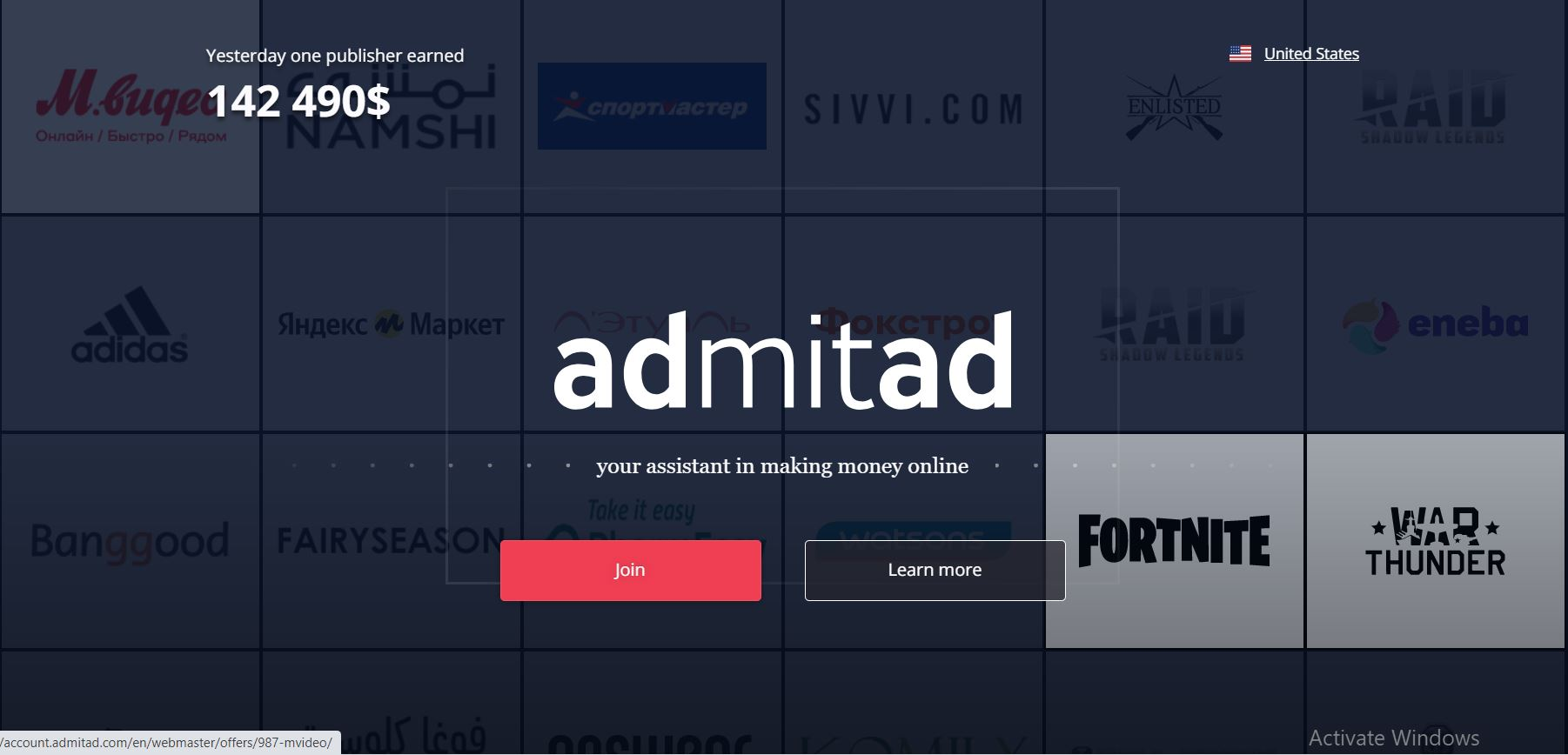 Get Started with Admitad Affiliate Program