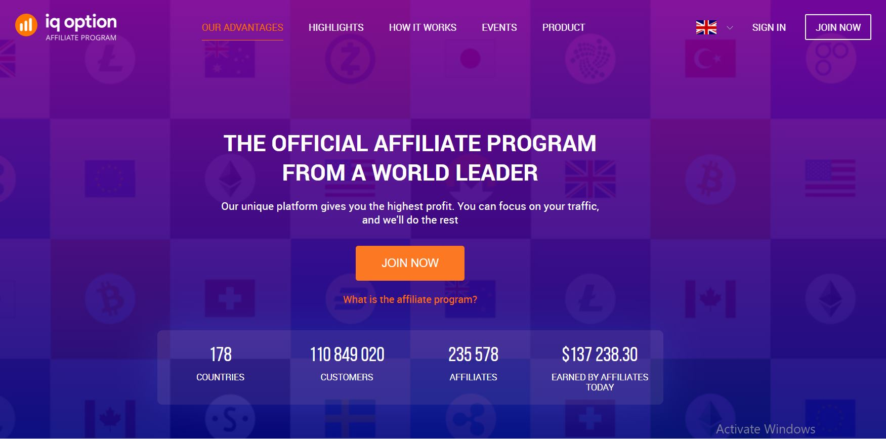 Get Started with IQ Options Affiliate Program